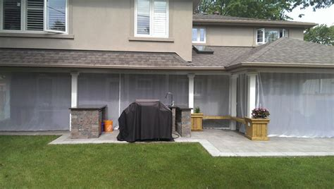 outdoor mosquito curtains outdoor curtains mosquito drapes porch screens traditional patio toronto by rescom designs