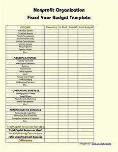 budget format for non profit organization template With not for profit budget template