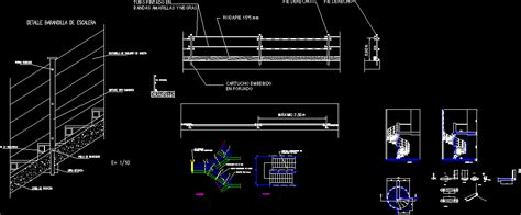stair railing detail dwg detail for autocad designs cad