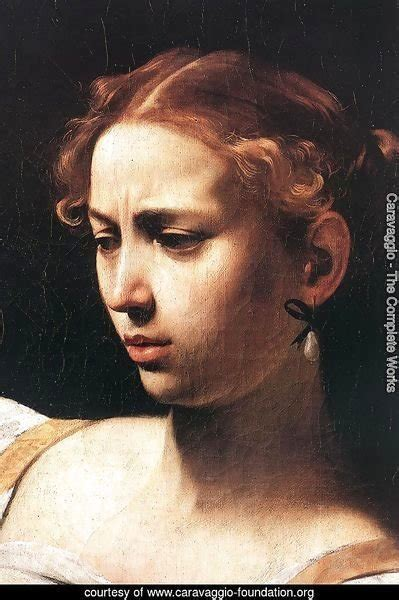 caravaggio  complete works judith beheading holofernes detail    caravaggio