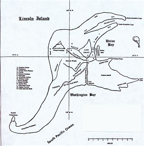 The Mysterious Island Map  Musings From Michael