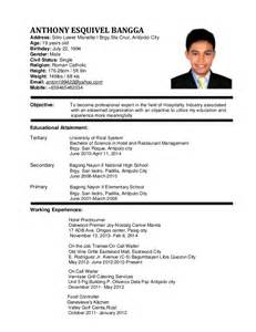resume objectives for hotel and restaurant management graduate curriculum vitae