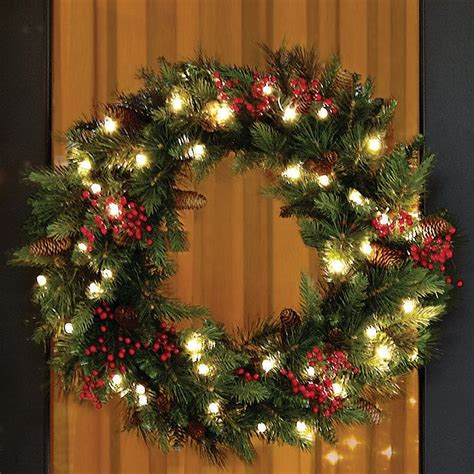 cordless outdoor decorations celebrate a cordless with this led wreath that