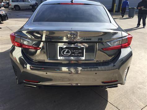 lexus chrome quot black chrome quot full wrapped rc350 f sport lexus rc350