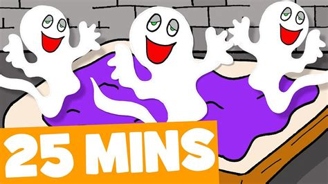 Five Little Spooky Ghosts Song And More  25mins Halloween Songs Collection For Kids Youtube