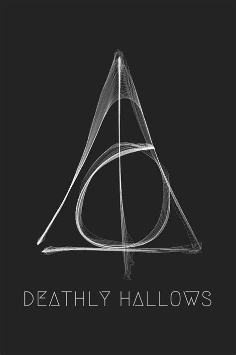 TAP AND GET THE FREE APP! Art Creative Black Deathly Hallows Harry Potter Movie Book Symbol HD