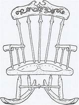 Chair Rocking Coloring Drawing Pages Sheets Lounge Cute Uploaded User Chairs sketch template