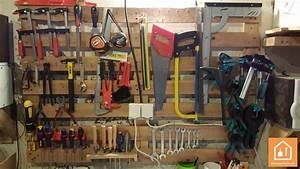 Fabriquer un porte outils mural avec une palette for Fabriquer un porte outils mural