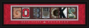 ohio state university buckeyes officially licensed framed With ohio state letter art