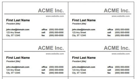 buisness card template word word business card template beepmunk