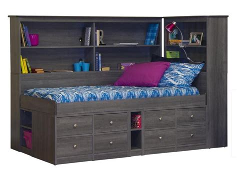 Captains Bed With Bookcase Headboard by 22 950 95a 94 Jr Captain Bed With Back Bookcase And