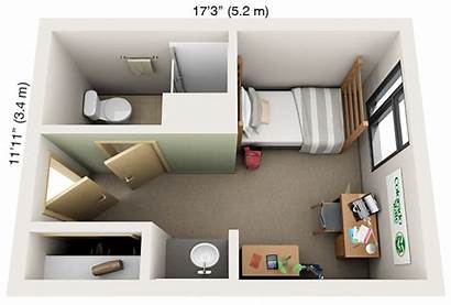 Private Dorm Single Bathroom Suite Housing Layouts