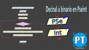 Algoritmo Para Convertir Un Numero Decimal A Binario
