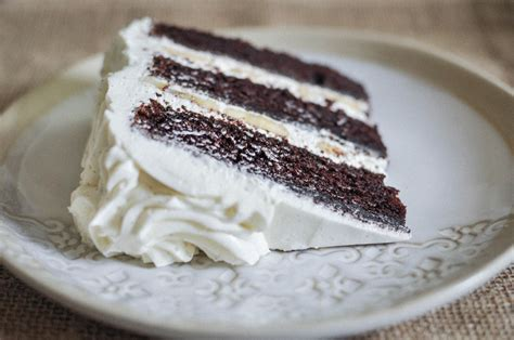 chocolate and vanilla cake chocolate banana cake with vanilla bean buttercream o o eats