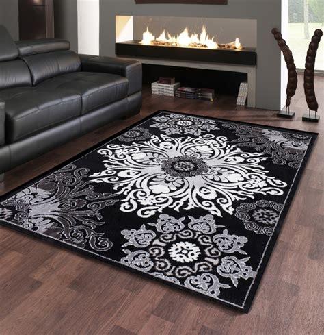 fabulous stunning tapis salon noir  blanc charmant tapis