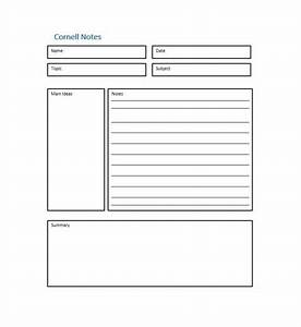 36 cornell notes templates examples word pdf With cornell method template