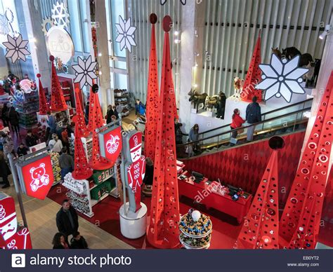 fao christmas orniment entrance hallway fao schwarz flagship store interior stock photo royalty free image