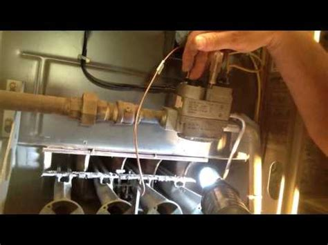 How To Adjust Furnace Pilot Light Youtube