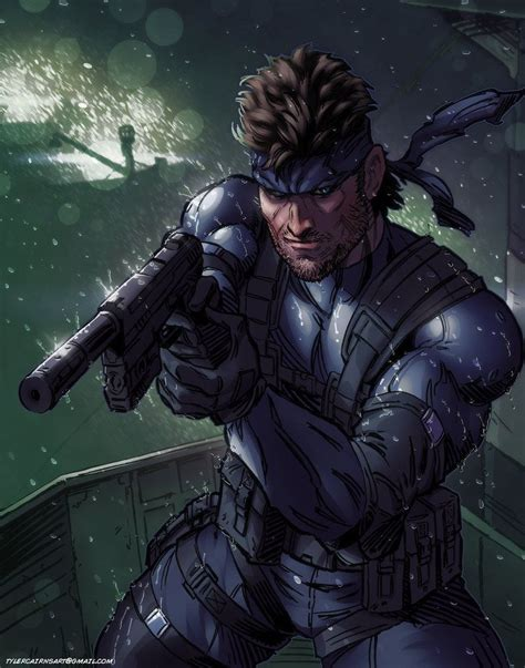 Metal Gear Solid 2 Solid Snake By Tylercairnsart