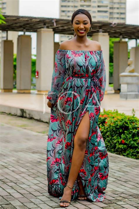 ankara silk dress the khartoum dress flowing ankara