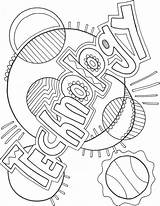 Coloring Pages Technology Computer Subject Science Binder Covers Notebook Middle Classroom Classroomdoodles Class Doodles Subjects Project Books Easy Title Computers sketch template