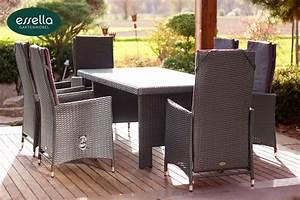 Gartenmöbel Polyrattan Essgruppe : essella polyrattan sitzgruppe rom 6 personen flachgeflecht ~ Markanthonyermac.com Haus und Dekorationen