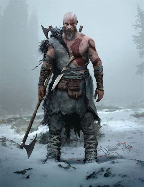 Kratos Concept From God Of War Character Design In 2019