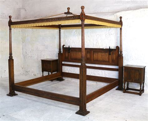 Gothic Canopy Bed Frame Queen