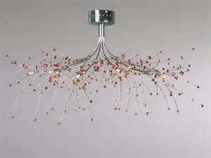 luminaire contemporain pour salon plafonnier métal sampa