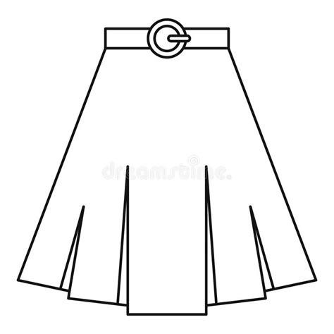skirt clipart black and white skirt icon outline style stock vector illustration of