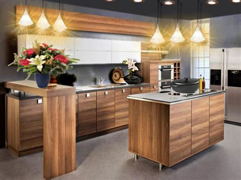 cuisine en bois h黎re déco cuisine bois moderne