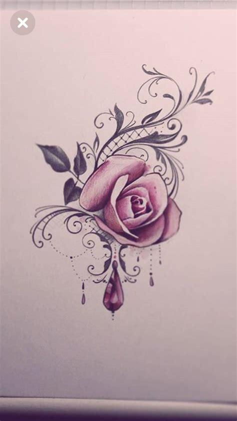 tattoo oberschenkel tatoos armband tatoeage roze