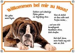 Warnschilder Selbst Gestalten : hundeschild deutscher boxer metallschild willkommen uv best ndig ~ Orissabook.com Haus und Dekorationen