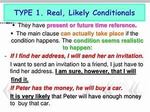 Conditional, Sentences, I
