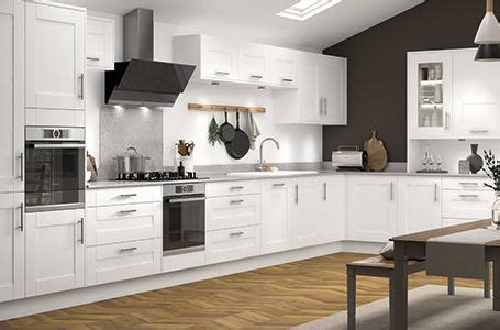 french white sherwood kitchen classic range benchmarx