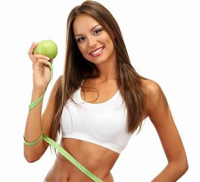 Fitness Female Woman Apple Diet Healthy Tape