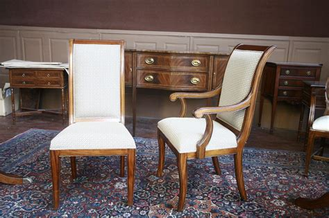 Dining Room Chairs by Mahogany Dining Room Chairs Regency Upholstered Ebay