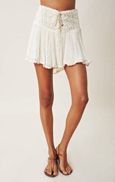 jens pirate booty asteria corset mini skirt  white