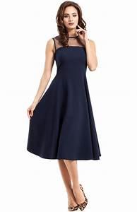 robe de soiree corolle bleu marine me271bm idresstocode With robe bleu or