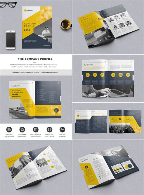 company booklets templates the company profile indesign template work company