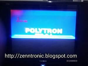 Zenntronic  Problem Tv Polytron Slim Gambar Separuh Layar