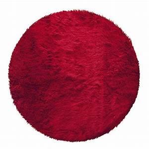 Tapis Rond Rouge : tapis rond marmotte rouge tapis de chambre salon eminza ~ Teatrodelosmanantiales.com Idées de Décoration