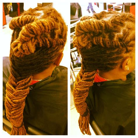 natural dreads washed palm roll twist roots  styled