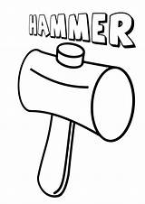 Hammer Coloring sketch template