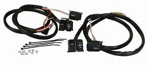 Handlebar Wiring Harness With Black Switches For Harley
