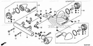 Honda Motorcycle 2012 Oem Parts Diagram For Turn Signal  1