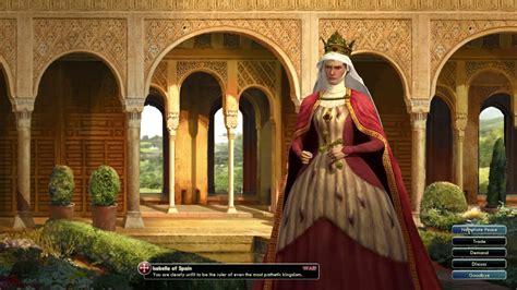 civilization civ isabella leaders revolution female queen civ5 castile spain leader leon theme boobs 1504
