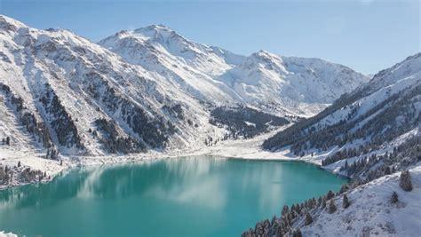Winter Landscape Desktop Wallpaper Almaty Footage Stock Clips