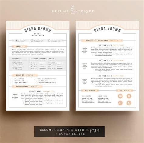 Resume Template The 3pk by 3pk Resume Cv Template Cover Letter For Ms Por