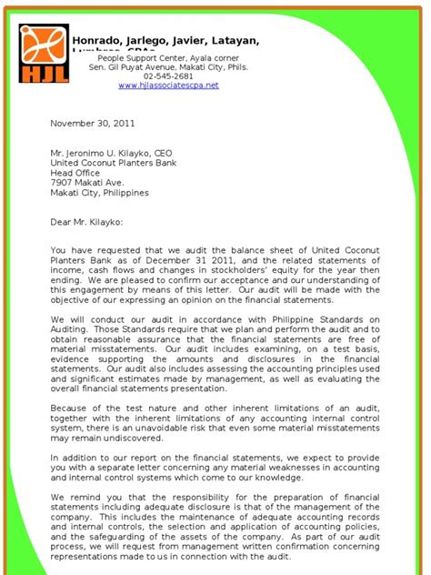 audit management letter audit engagement letter management representation letter 20526 | 1507225495